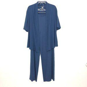 J. Jill Stretch Sleep Pajama Pants Top Set AT